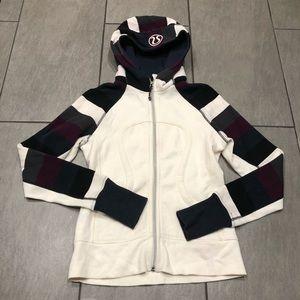 Lululemon Scuba Jacket Hoodie White Black Grey